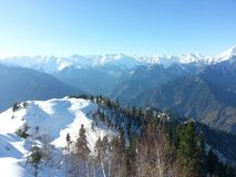 Snow. Fall at Azad Kashmir view royalty free stock images