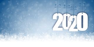 Free Snow Fall Background For Christmas And New Year 2020 Stock Photography - 159411752