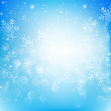 Snow fall with bokeh abstract blue background vector illustratio. N eps10 Royalty Free Stock Photography