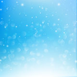 Snow fall with bokeh abstract blue background vector illustratio. N eps10 Royalty Free Illustration