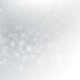 Snow fall with bokeh abstract grey background vector illustratio. N eps10 Royalty Free Stock Photography