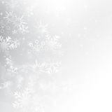 Snow fall with bokeh abstract grey background vector royalty free illustration
