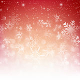 Snow fall with bokeh abstract red background vector illustration. Eps10 Vector Illustration