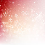Snow fall with bokeh abstract red background vector illustration. Eps10 Stock Illustration