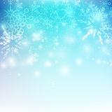 Snow fall with bokeh and lighting element abstract background. Vector illustration eps10 Stock Illustration