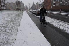 SNOW FALL IN COPENHAGEN Royalty Free Stock Photos