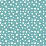 Snow fall dots seamless pattern Royalty Free Stock Image