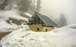 Snow fall in gulmarg Stock Images