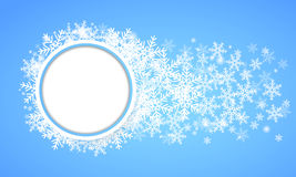 Snow Fall. Holiday Winter Theme Background. Royalty Free Stock Photo