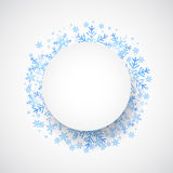 Snow fall. Holiday winter theme background. Royalty Free Stock Image