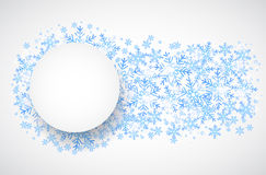 Snow fall. Holiday winter theme background. Vector Royalty Free Stock Photography