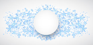 Snow fall. Holiday winter theme background. Royalty Free Stock Photography
