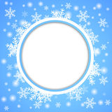 Snow fall. Holiday winter theme background. Stock Images