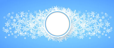 Snow fall. Holiday winter theme background. Vector Royalty Free Stock Images