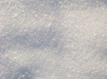 Snow. Only fallen snow sparkles in the sun Royalty Free Stock Photos