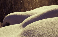 Snow falling Stock Photos