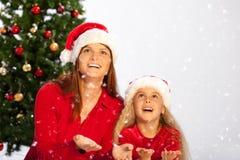 Snow falling Royalty Free Stock Photos