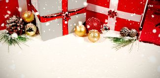 Composite image of snow falling royalty free stock photo