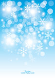 Snow Falling Background Stock Photography