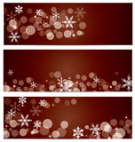 Snow Falling Banner Background Royalty Free Stock Photo