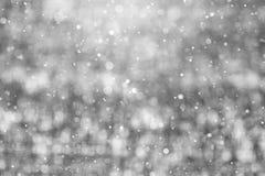 Snow Falling Close Up. Winter Saskatchewan Canada Stock Photos