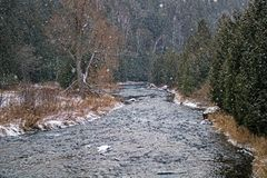 Snow Falling On The Credit River