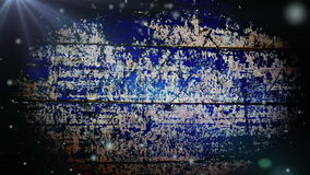 Snow falling on Grunge Blue Wooden Background. stock video footage