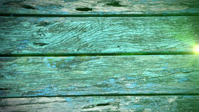 Snow falling on Grunge Green Wooden Background stock video