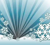 Snow falling on the landscape. Abstract winter background Royalty Free Stock Photo