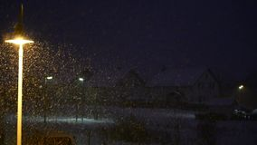 Snow is falling stock video footage