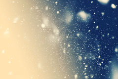 Snow Falling Night Sky Drawing Blue Background Royalty Free Stock Photo