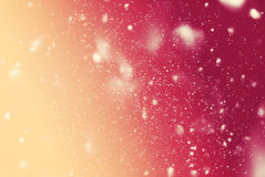 Snow Falling Night Sky Drawing Blue Background Stock Photo