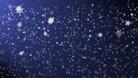 Snow falling from the night sky, holiday's background with snowfall stock footage