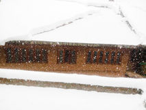 Snow falling in part of India. Snow is falling in Kashmir Stock Image