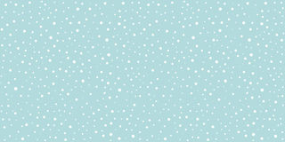 Snow Falling Seamless Pattern Christmas Background Royalty Free Stock Photography