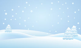 Snow falling on the trees. Illustration Royalty Free Stock Photos