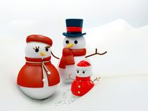 Snow family Stock Photography