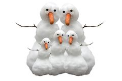 Snow Family Stock Photo