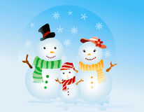 Snow Family Royalty Free Stock Photos