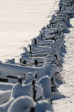 Snow fence Stock Photo
