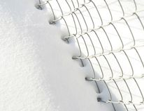 Snow and fence Royalty Free Stock Image