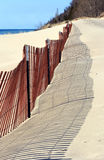 Snow Fence on Beach Royalty Free Stock Photos