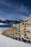 Snow fence in Chilean andes. Close to Valle Nevado ski resort Royalty Free Stock Images