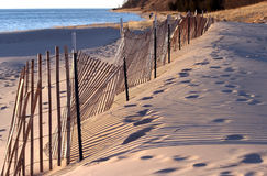 Free Snow Fence On Beach Stock Photography - 13053732