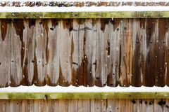 Snow on a fence Royalty Free Stock Images