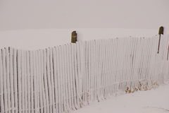 A snow fence. Royalty Free Stock Image