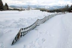 Snow fence Royalty Free Stock Photo