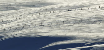 Snow Fences Blue White Stock Photography