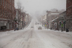 Snow few cars Royalty Free Stock Images