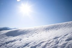 Snow field Royalty Free Stock Photo